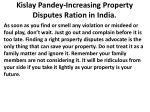 kislay pandey increasing property disputes ration in india2