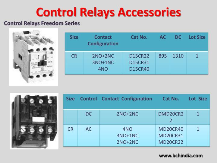 Control Relays Accessories
