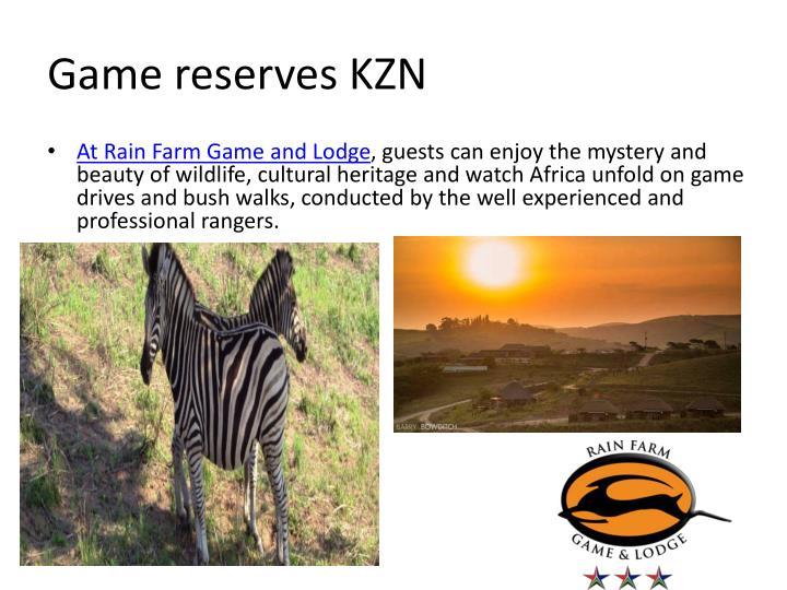 Game reserves KZN
