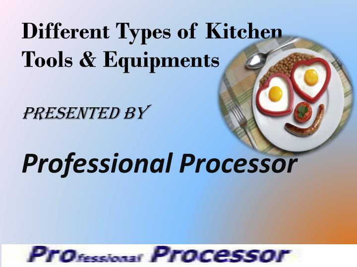 Different Types of Kitchen Tools & Equipments