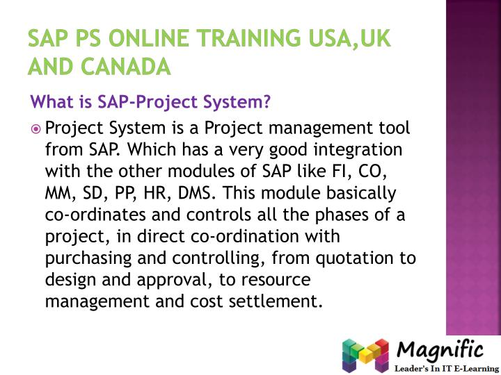 Sap ps online training usa uk and canada