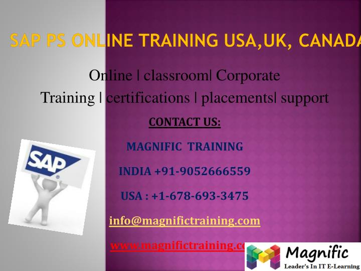 sap ps online training usa uk canada
