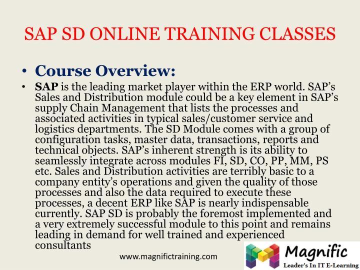 SAP SD ONLINE TRAINING CLASSES