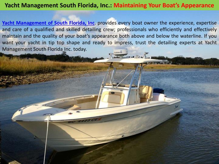 Yacht Management South Florida, Inc.:
