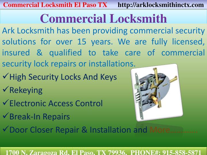 Commercial Locksmith El Paso TX