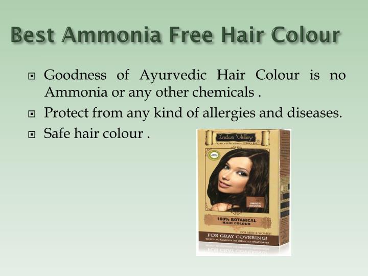 Best Ammonia Free Hair Colour