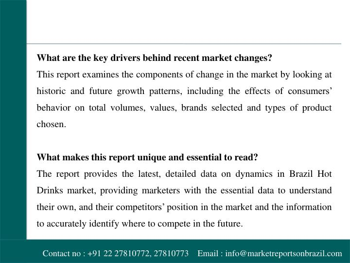 What are the key drivers behind recent market changes