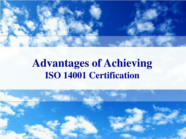 Advantages of Achieving