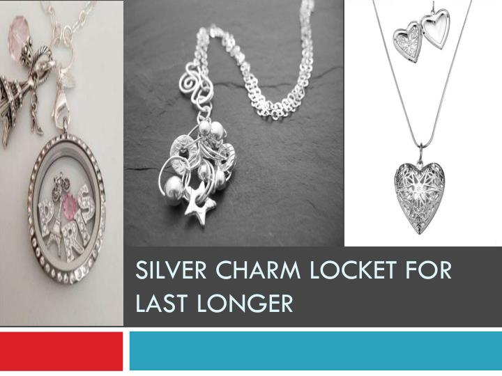 Silver charm locket for last