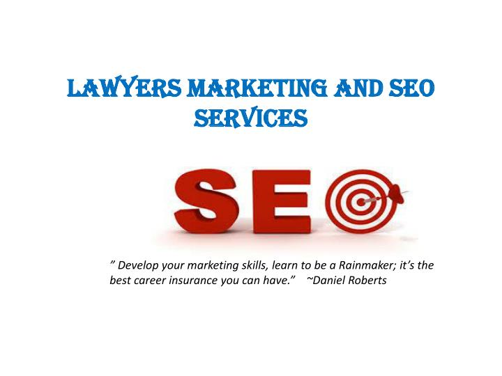 Lawyers marketing and seo services