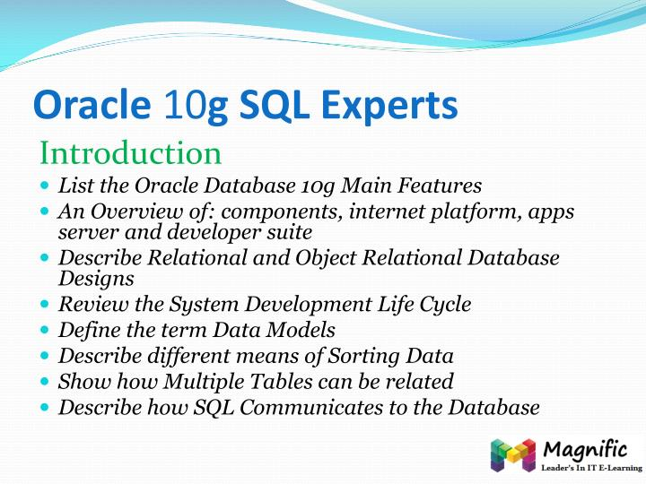 Oracle 10 g sql experts