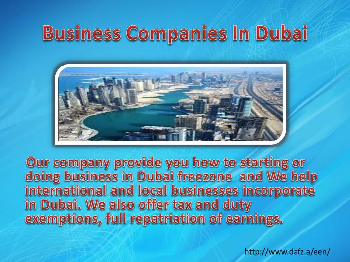 Business companies in dubai