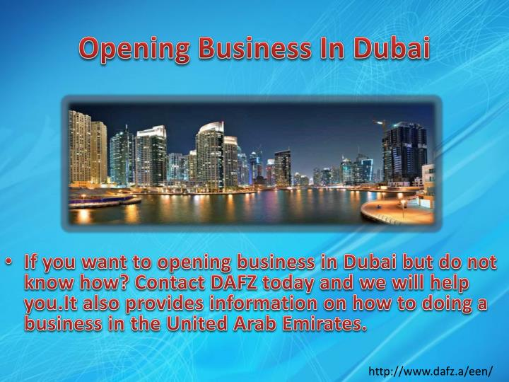 Opening Business In Dubai