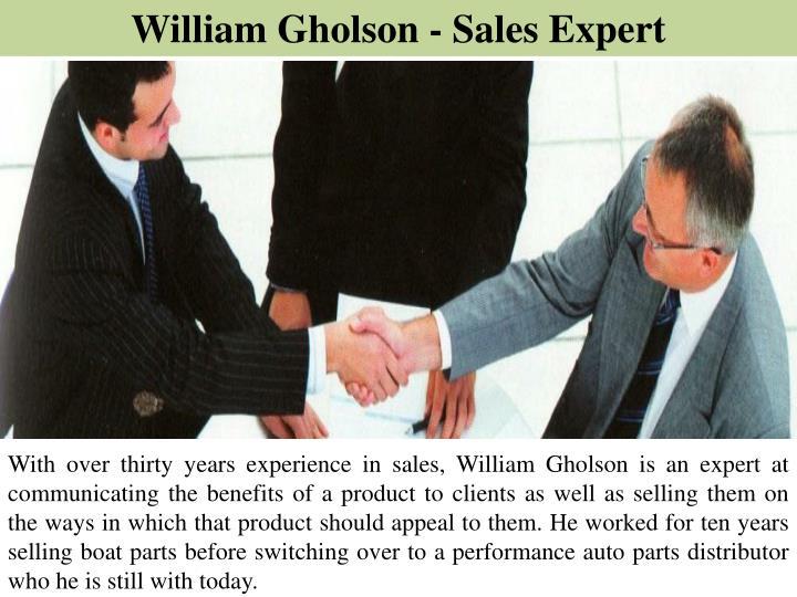 William Gholson - Sales Expert