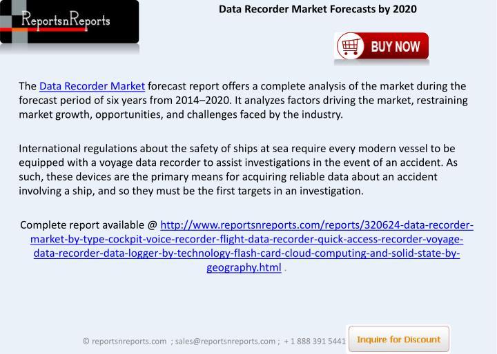 Data Recorder Market Forecasts