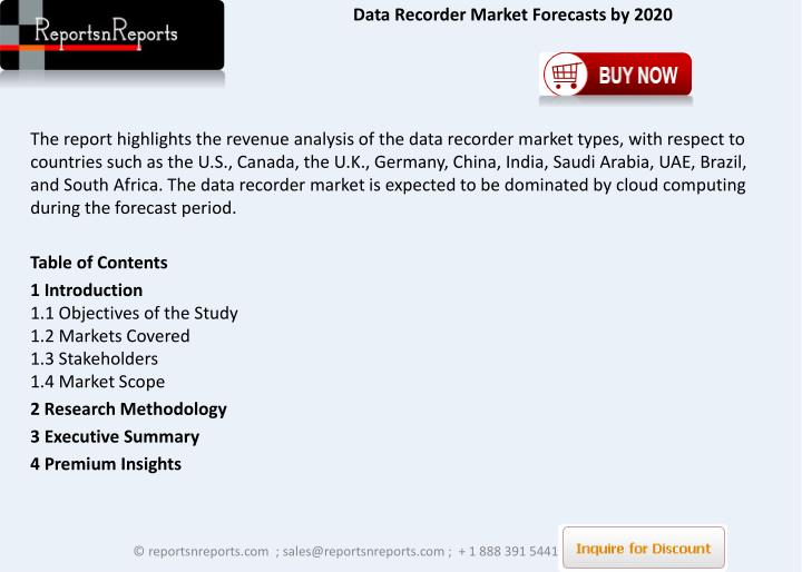 Data Recorder Market Forecasts