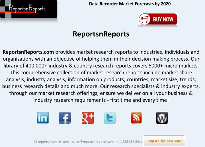Data Recorder Market Forecasts by 2020