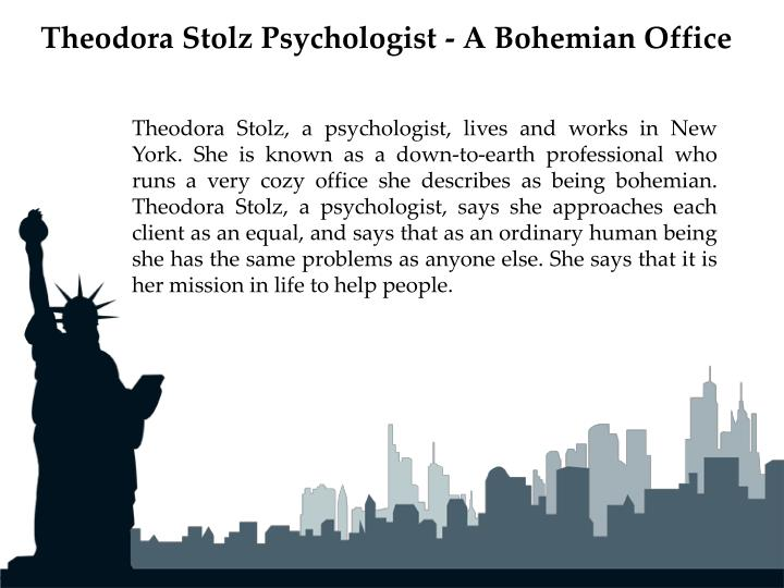 Theodora Stolz Psychologist - A Bohemian Office