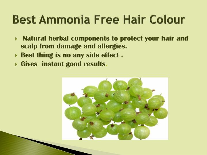 Best Ammonia Free Hair Colour