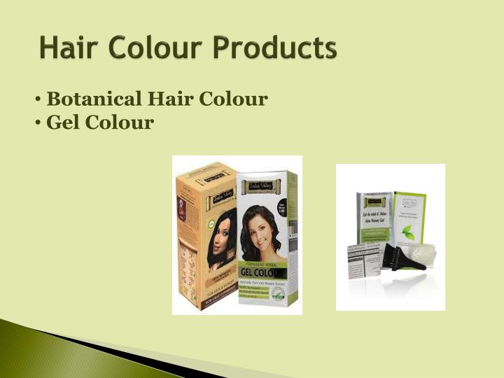 Hair colour products