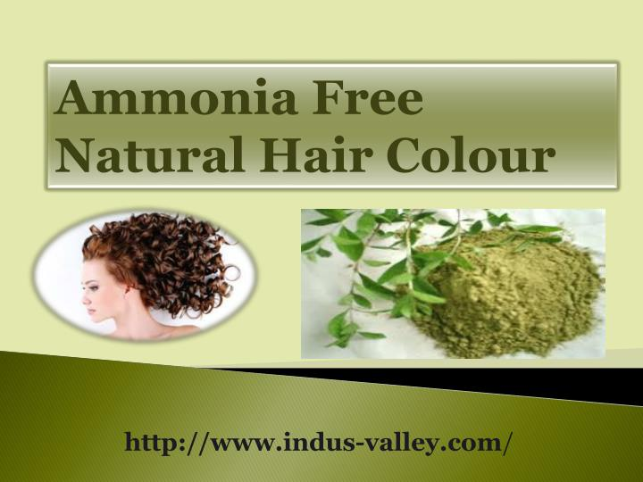 Ammonia Free Natural Hair Colour