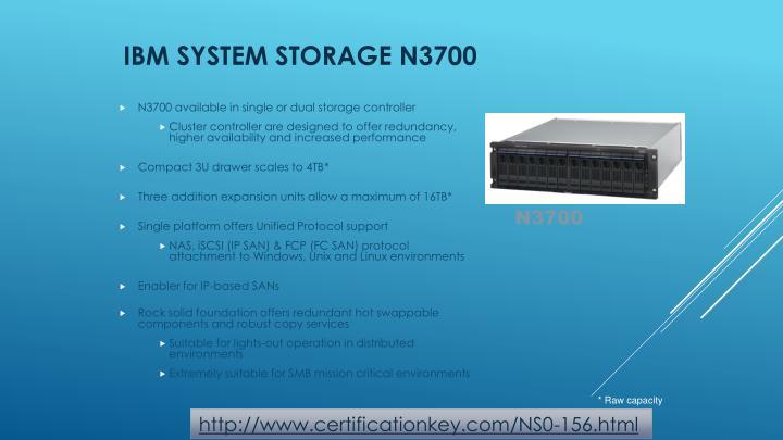 IBM System Storage N3700