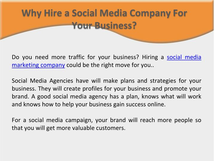 Why Hire a Social Media Company For Your Business?