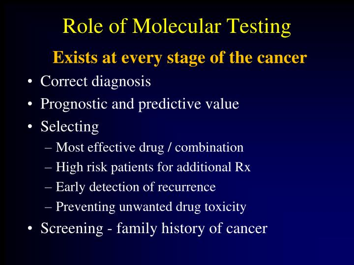 Role of Molecular Testing
