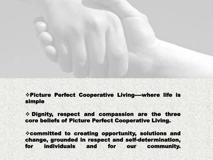 Picture Perfect Cooperative Living----where life is simple