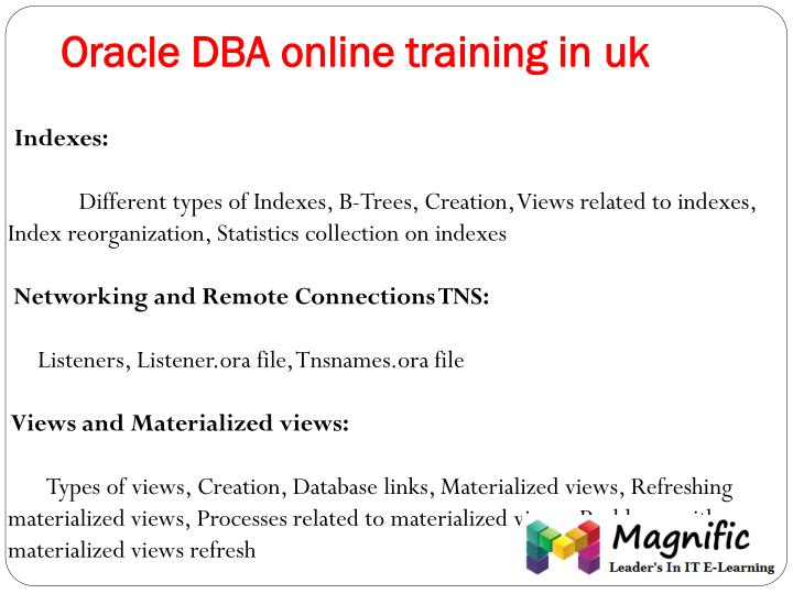 Oracle DBA online training in