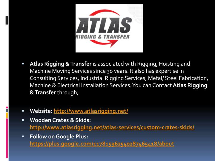 Atlas Rigging & Transfer