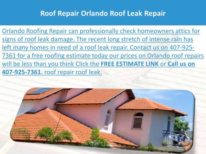 Roof Repair Orlando Roof Leak Repair