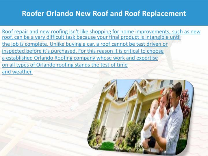 Roofer Orlando New Roof and Roof Replacement
