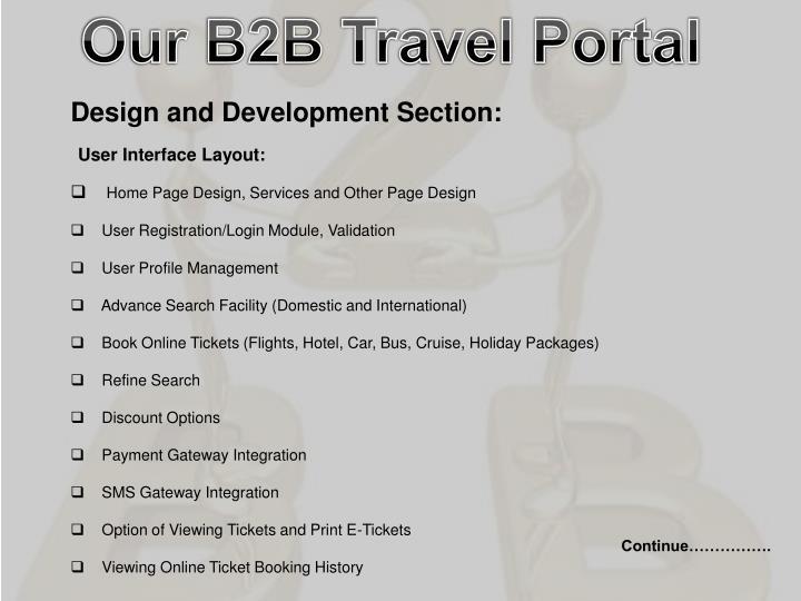 Our B2B Travel Portal