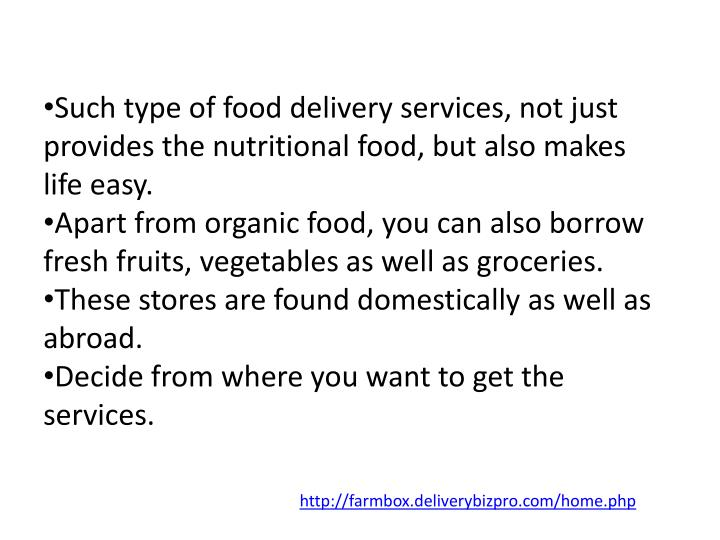 Such type of food delivery services, not just provides the nutritional food, but also makes life easy.
