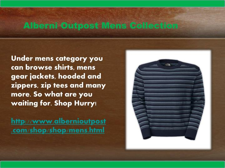 Alberni Outpost Mens Collection