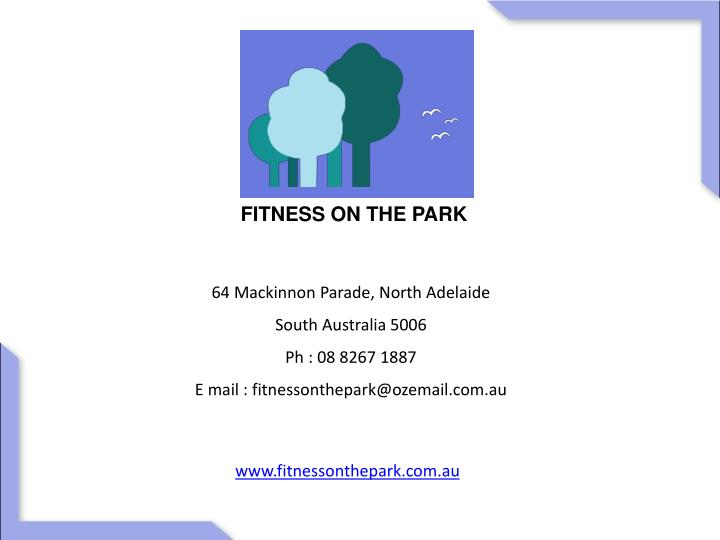 FITNESS ON THE PARK