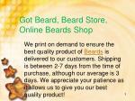 got beard beard store online beards shop2