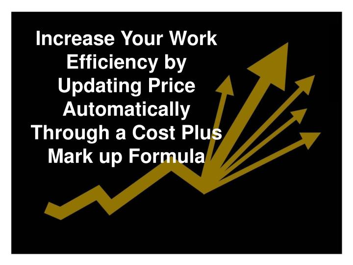 Increase Your Work Efficiency by