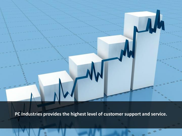 PC Industries provides the highest level of customer support and service.