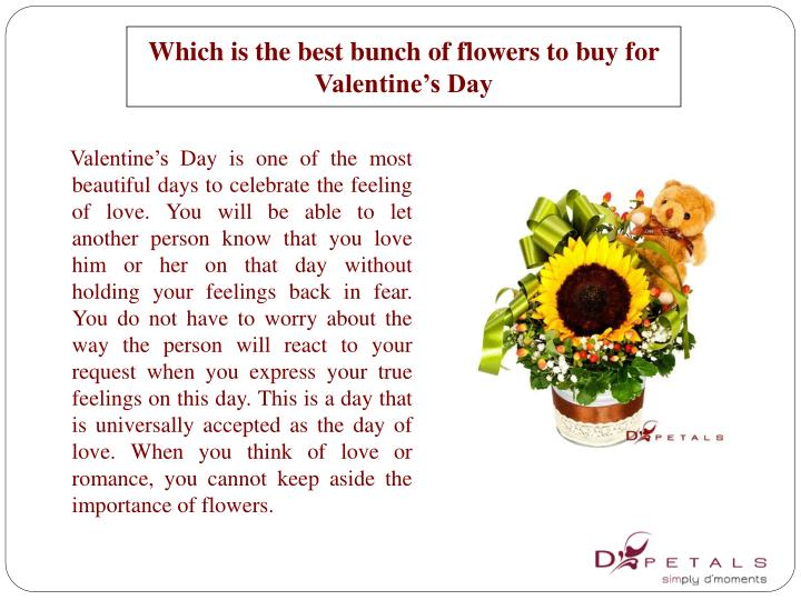 Which is the best bunch of flowers to buy for valentine s day