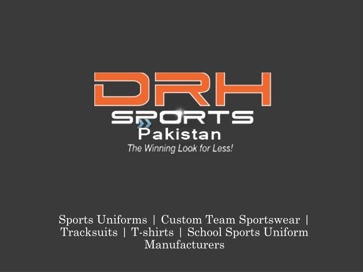 Sports Uniforms | Custom Team Sportswear | Tracksuits | T-shirts | School Sports Uniform Manufacture...