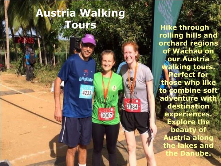 Hike through rolling hills and orchard regions of Wachau on our Austria walking tours. Perfect for those who like to combine soft adventure with destination experiences. Explore the beauty of Austria along the lakes and the Danube.