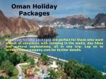oman holiday packages