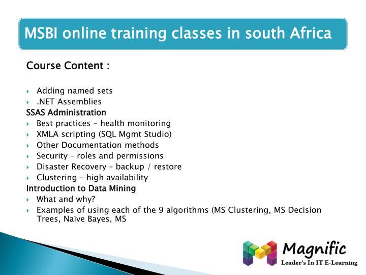 Course Content :