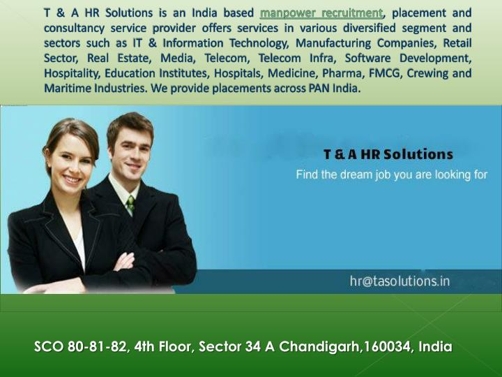 T & A HR Solutions is an India based