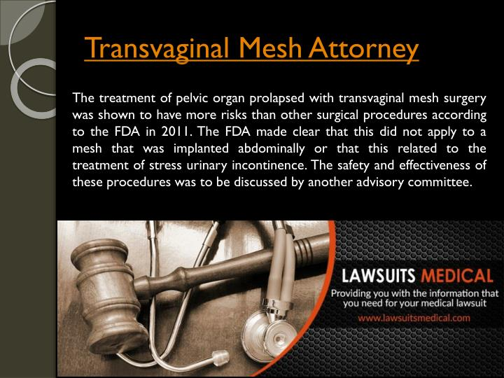 Transvaginal mesh attorney