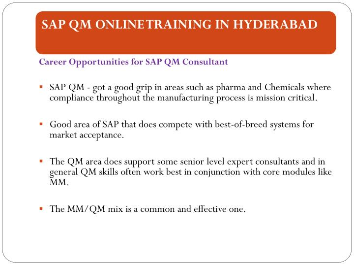 Career Opportunities for SAP QM Consultant