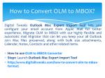 how to convert olm to mbox