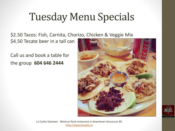 Food deals tuesday vancouver